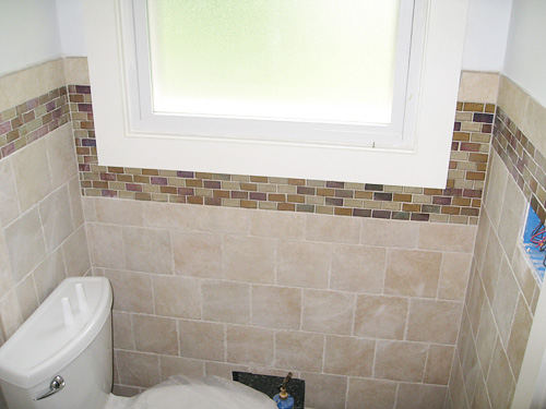 Bathroom Floor Tile Pattern Wall With Gl Accents