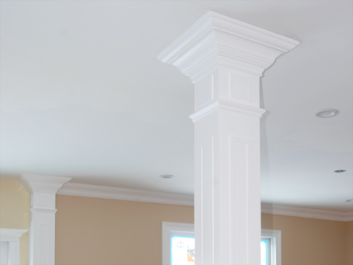 Carpentry crown base moldings chair rails coffered Crown columns