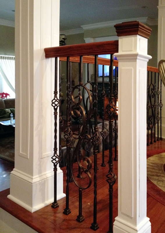 Carpentry crown base moldings chair rails coffered for Decorative house columns