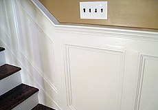 Carpentry: wainscoting, shadow boxes, stair railings and spindles, chair rails