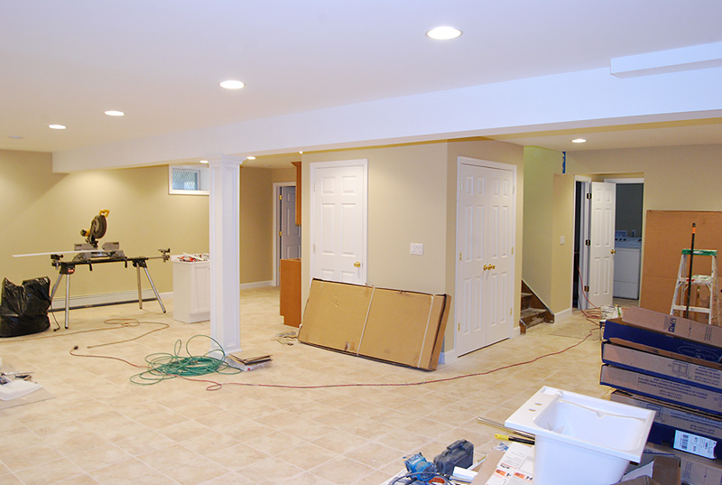 Finished Basement Remodel Renovation in Wayne and Montville NJ