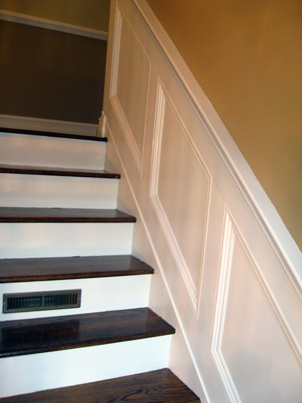 Nice Chair Rail Staircase Part - 11: Carpentry Photos: Wainscoting U0026 Stair Railing Installation