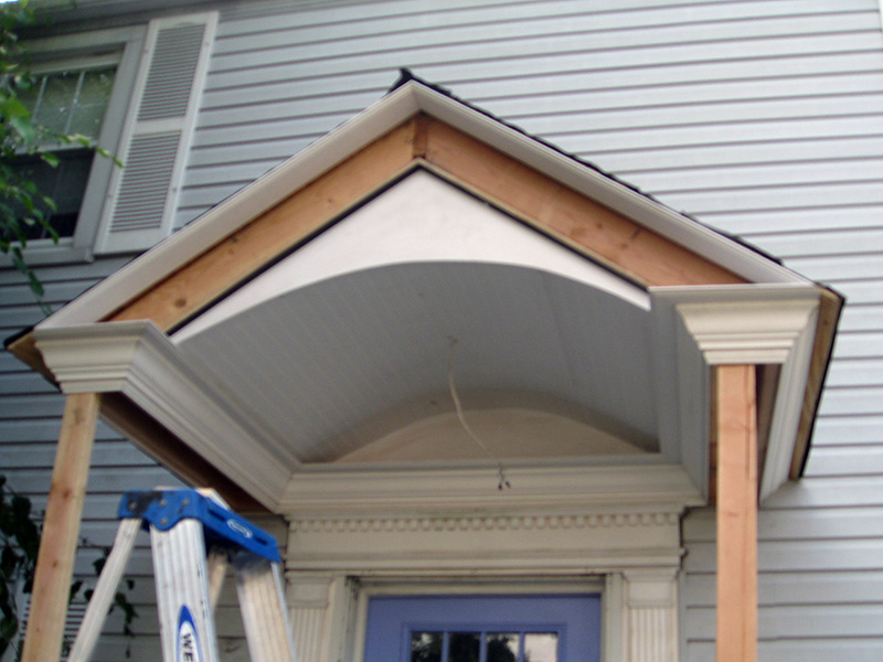 how to make a porch roof