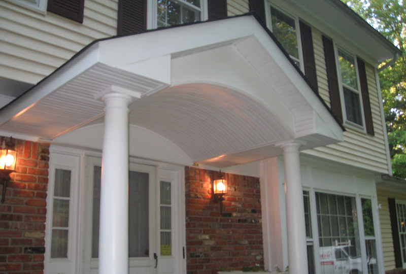 Entrance With Portico Columns : Custom entry ways entrances and porticos in north nj