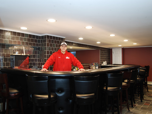 Finished Basement Bars Prepossessing Finished Basement Remodel Renovation In Wayne And Montville Nj Design Decoration