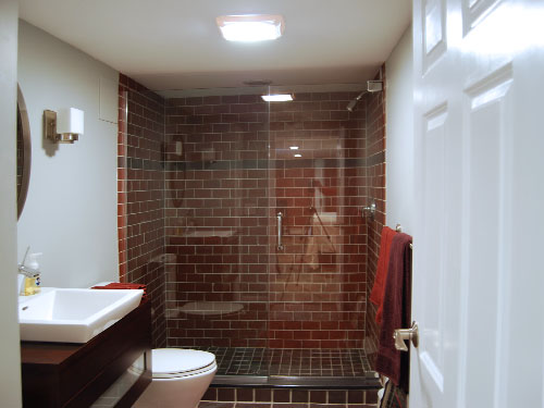 Finished basement remodel renovation in wayne and montville nj for Finished bathroom ideas