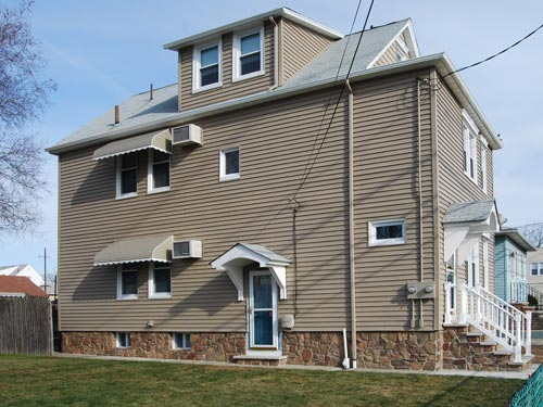 Complete exterior vinyl siding remodel